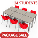 Click here for more Classroom Set- 24 Elemental Rectangle Desks & Flavors Chairs by Smith System by Worthington
