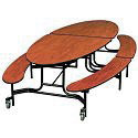 Click here for more Elliptical Bench Cafeteria Table by Midwest by Worthington