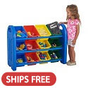 Click here for more Storage Organizer With Bins by ECR4Kids by Worthington