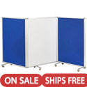 Click here for more Mobile Dry-Erase and Flannel Room Dividers by ECR4Kids by Worthington