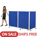 Click here for more Mobile Double-Sided Flannel Room Dividers by ECR4Kids by Worthington