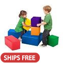 7-Piece Big Blocks by ECR4Kids