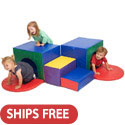 Click here for more SoftZone Corner Tunnel Maze by ECR4Kids by Worthington