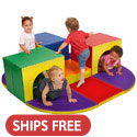 Click here for more SoftZone Triple Tunnel Maze by ECR4Kids by Worthington