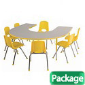 Click here for more Shape Activity Table & Chair Packages by ECR4Kids by Worthington
