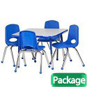 Click here for more Square Activity Table & Chair Packages by ECR4Kids by Worthington