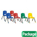Click here for more Assorted Pack Stack Chairs w/ Chrome Legs by FDP by Worthington