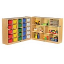 Click here for more Birch Fold & Lock Cubby Tray Cabinet w/ Storage by ECR4Kids by Worthington