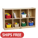 Click here for more Birch 8 Compartment Backpack Storage Cubby Unit by ECR4Kids by Worthington