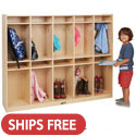 Birch 10-Section Coat Locker by ECR4Kids