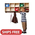 Click here for more Birch 10-Section Wall Mounted Coat Locker by ECR4Kids by Worthington