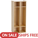Click here for more Birch 2-Section Streamline Coat Locker by ECR4Kids by Worthington