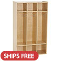 Click here for more Birch 3-Section Streamline Coat Locker by ECR4Kids by Worthington