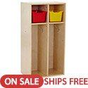 Click here for more Birch 2-Section Streamline Toddler Coat Locker by ECR4Kids by Worthington