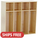Click here for more Birch 4-Section Streamline Toddler Coat Locker by ECR4Kids by Worthington