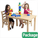 Click here for more Rectangle Hardwood Table & Chair Sets by ECR4Kids by Worthington