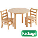 Round Hardwood Table & Chair Sets by ECR4Kids
