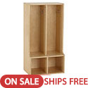 Click here for more Birch 2-Section Streamline Toddler Coat Locker with Bench by ECR4Kids by Worthington