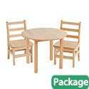 "Click here for more 30"" Round Hardwood Table & Chair Sets by ECR4Kids by Worthington"