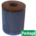 Click here for more 32 Gallon Outdoor Metal Trash Receptacle w/ Lid & Liner by UltraPlay by Worthington