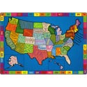My America Doodle Map Carpet by Flagship Carpets