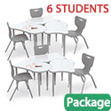Click here for more Fender Collaborative Dry Erase Desk & Hierarchy Chair Packages by Mooreco by Worthington