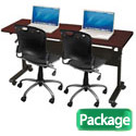 Click here for more Package Deal- Flipper Seminar Table & Training Chairs by Balt by Worthington