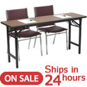 Folding Training Table with Padded Stack Chairs by KFI