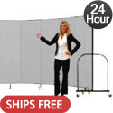 6' H Freestanding Portable Partition by Screenflex- 24 Hour Quick Ship