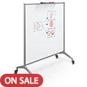 Glider Mobile Whiteboard by Best-Rite