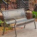 Hamilton Vertical Slat Outdoor Benches by UltraPlay