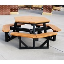 Click here for more Hex Outdoor Picnic Tables by Jayhawk Plastics by Worthington