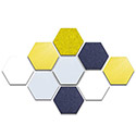 Click here for more Hex Whiteboard & Bulletin Board Panels by Ghent by Worthington