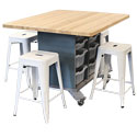 Click here for more Hideaway Storage Tables & Metal Stools by CEF by Worthington
