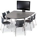 Interchange Round End Multimedia Table by Smith System