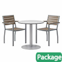 Click here for more Ivy Series Round Outdoor Table & Chair Sets by Olio Designs by Worthington