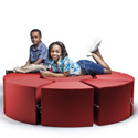 Click here for more Octagon 9-Piece Sectional Vinyl Seating Arrangement by Jaxx by Worthington