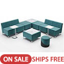 Click here for more Jefferson L Shape 2 Tables Lounge Set by Woodstock Marketing by Worthington