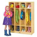 Birch 4 Section Coat Locker by Jonti-Craft