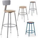 Click here for more Colorful Hardboard Seat Stools by KI by Worthington