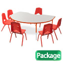Preschool Kidney Activity Table & 6 Chair Package Set by Marco Group