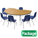 Click here for more Kidney Activity Table & Chair Package Set by Marco Group by Worthington