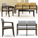 Lenox Open Arm Series Reception Seating by Lesro
