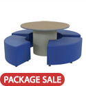Sonik Round Table & Soft Seating Packages by Marco Group
