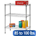 Click here for more Light Duty Chrome Wire Shelving Units by Sandusky Lee by Worthington