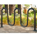 Contemporary Loop Bike Rack by UltraPlay