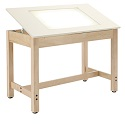 Click here for more Adjustable Light Table by Diversified Woodcrafts by Worthington