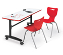 Click here for more Lumina Flip-Top Folding Tables with Dry Erase Top by Mooreco by Worthington