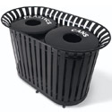 Click here for more Dual Lexington Outdoor Trash Receptacles by UltraPlay by Worthington