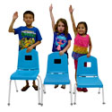Creative Colors Stackable School Chairs by Mahar